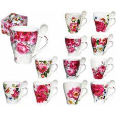 """Чашка с ложкой """"Весенний сад"""" 2063"""