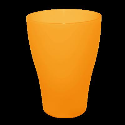 Стакан 0,25 л (оранжевый прозрачный) Алеана 167096