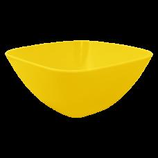 Салатница 120*120*55 мм 0,3 л (тёмно-жёлтый) Алеана 168001
