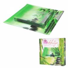 Набор тарелок Зеленый бамбук SnT 3727