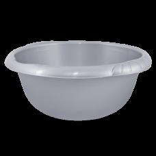 Таз круглый Евро 22 л (серый) Алеана 121060