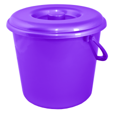 Ведро 10 л без крышки (фиолетовый перламутр) Алеана 122010