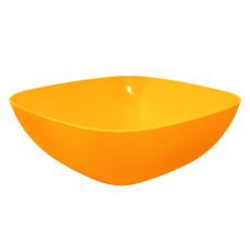 Тарелка глубокая 150*150*55 мм 0,5 л (оранжевый прозрачный) Алеана 167061