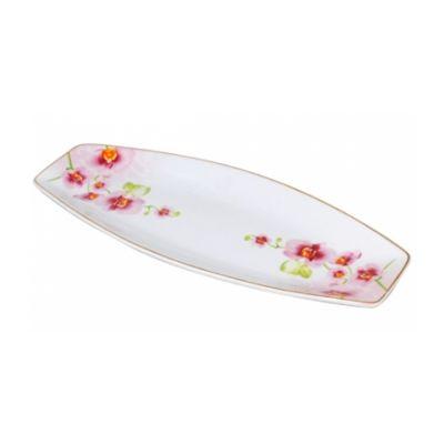 Тарелка для рыбы Орхидея 35*14*3,5 см SnT 30826