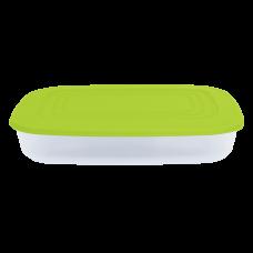 Контейнер для пищевых продуктов прямоугольный 2,5 л (оливковый/прозрачный) Алеана 167025