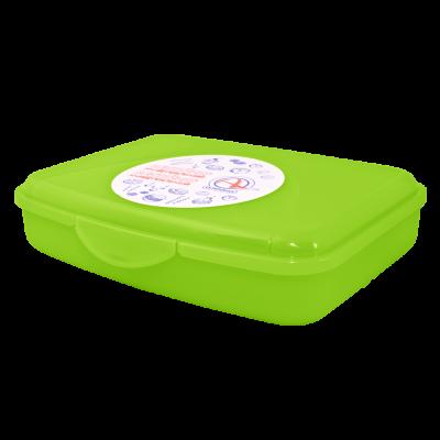 Контейнер универсальный L 20*20*7,5 см (салатовый прозрачный) Алеана 168018