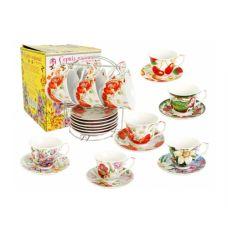 Сервиз чайный на стойке Микс 3 12 предметов SnT 152-3435
