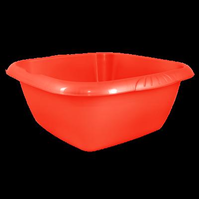 Таз квадратный Евро 12 л (красный) Алеана 121047