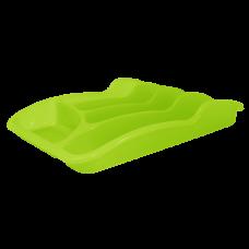 Лоток для столовых приборов 33*25*6,0 см (салатовый прозрачный) Алеана 167095