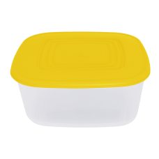 Контейнер для пищевых продуктов квадратный 0,93 л (тёмно-жёлтый/прозрачный) Алеана 167013