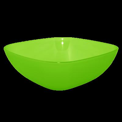 Тарелка глубокая 150*150*55 мм 0,5 л (салатовый прозрачный) Алеана 167061