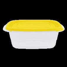 """Контейнер для пищевых продуктов """"Омега"""" прямоугольный 0,7 л (тёмно-жёлтый/прозрачный) Алеана 167026"""
