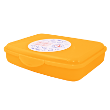 Контейнер универсальный M 19*14,5*4,5 см (оранжевый прозрачный) Алеана 168017