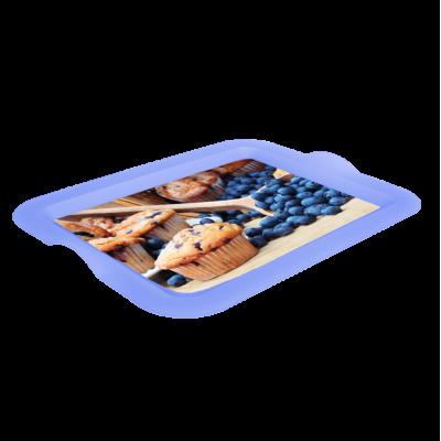 Поднос прямоугольный с декором (Маффин) 46*36*4 см Алеана 167056