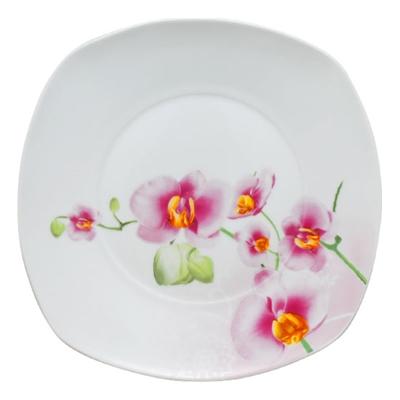 Тарелка 20 см квадрат Орхидея SnT 30800