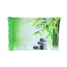 Тарелка прямоугольная с волнистым краем 21*31см Зеленый бамбук SnT 3712