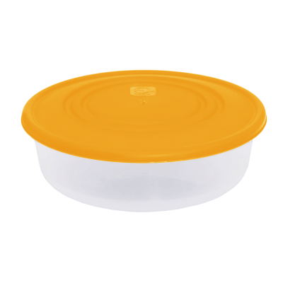 Контейнер для пищевых продуктов круглый 0,55 л (оранжевый/прозрачный) Алеана 167033