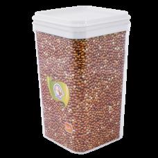 Емкость для сыпучих продуктов 0,6 л (белый прозрачный) Алеана 168024