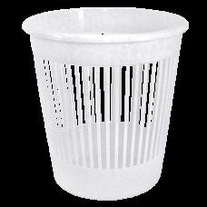 Корзина для бумаги 12 л (белый флок) Алеана 122052