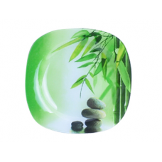 Тарелка квадратная 25 см Зеленый бамбук SnT 3716