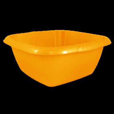 Таз квадратный Евро 9 л (оранжевый) Алеана 121046