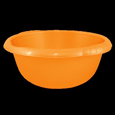 Таз круглый Евро 14 л (оранжевый) Алеана 121059