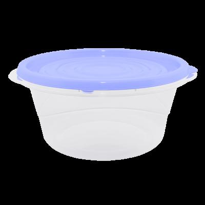 """Контейнер для пищевых продуктов """"Омега"""" круглый 0,75 л (сиреневый/прозрачный) Алеана 167038"""