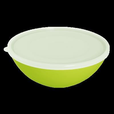 Миска с крышкой 2 л (оливковый/прозрачный) Алеана 167017