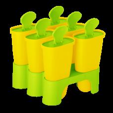 Формы для мороженого с подставкой (тёмно-жёлтый/оливковый) Алеана 168030