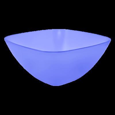 Салатница 120*120*55 мм 0,3 л (фиолетовый прозрачный) Алеана 168001