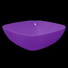 Тарелка глубокая 150*150*55 мм 0,5 л (тёмный сиреневый) Алеана 167061