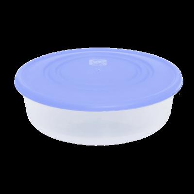 Контейнер для пищевых продуктов круглый 1,025 л (сиреневый/прозрачный) Алеана 167034