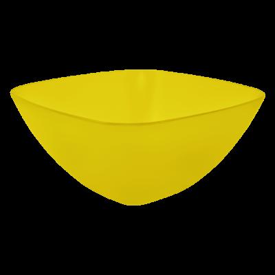 Салатница 180*180*75 мм 1 л (жёлтый прозрачный) Алеана 168002