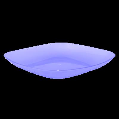 Тарелка 190*190*28 мм 0,5 л (фиолетовый прозрачный) Алеана 167062