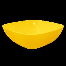 Тарелка глубокая 150*150*55 мм 0,5 л (тёмно жёлтый) Алеана 167061