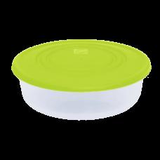 Контейнер для пищевых продуктов круглый 1,025 л (оливковый/прозрачный) Алеана 167034