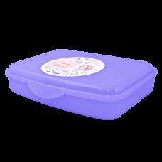 Контейнер универсальный M 19*14,5*4,5 см (фиолетовый прозрачный) Алеана 168017