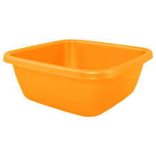 Таз квадратный 9 л (оранжевый) Алеана 121043