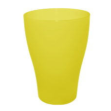 Набор стаканов 0,25 л 3 шт (жёлтый прозрачный) Алеана 168036