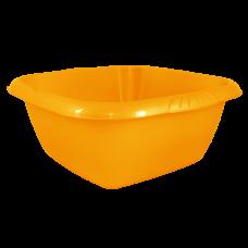 Таз квадратный Евро 6 л (оранжевый) Алеана 121045