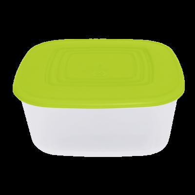Контейнер для пищевых продуктов квадратный 1,88 л (оливковый/прозрачный) Алеана 167014