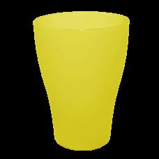 Стакан 0,5 л (жёлтый прозрачный) Алеана 167002