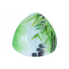 Салатник треугольный 16,5 см Зеленый бамбук SnT 396