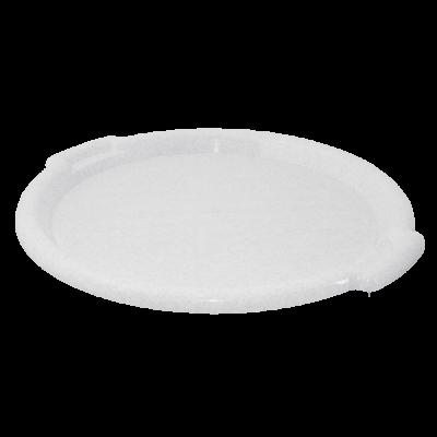 Поднос круглый 39 см (белый флок) Алеана 167098