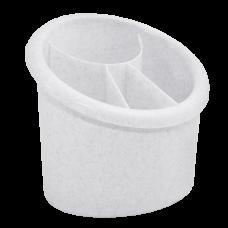 Подставка для столовых приборов овальная (белый флок) Алеана 167094