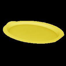 Поднос овальный 47*35*4 см (жёлтый прозрачный) Алеана 167403