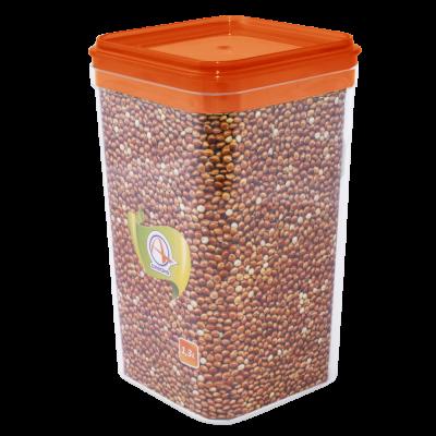 Емкость для сыпучих продуктов 1,3 л (янтарный прозрачный) Алеана 168025