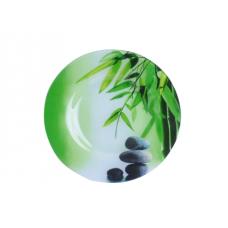 Тарелка десертная 20 см Зеленый бамбук SnT 337