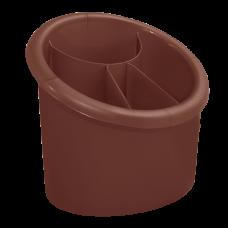 Подставка для столовых приборов овальная (темно-коричневый) Алеана 167094