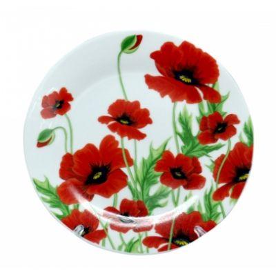 Тарелка 20 см Красный мак SnT 3030